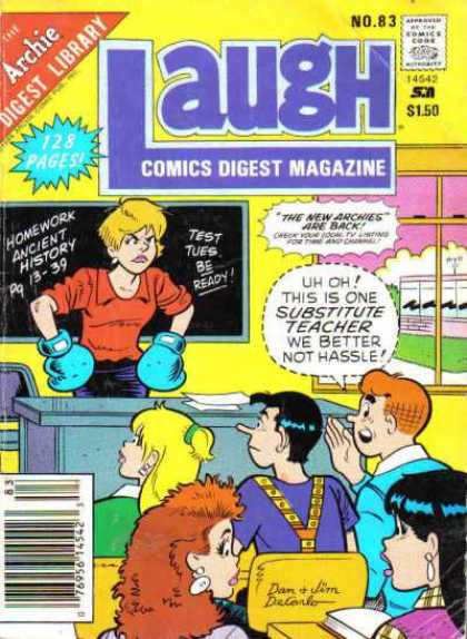 Laugh Digest 83 - Comics Code Authority - Speech Bubble - Archie - Betty - Chalkboard