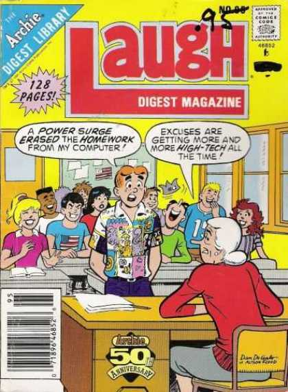 Laugh Digest 95 - Archie - Teacher - Classroom - Reggie - Jughead