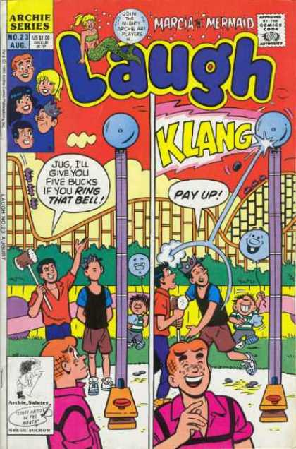 Laugh 23 - Jughead - Archie - Veronica - Marcia Mermaid - Roller Coaster