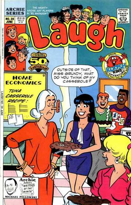 Laugh 28 - Home Economics - Archie Series - Tuna Casseerrole - Michael Pellowski - Kins Adventure