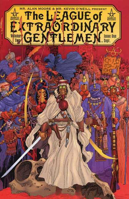 League of Extraordinary Gentlemen 2 1 - Sword - Robes - Masks - Pistol - Gas Mask