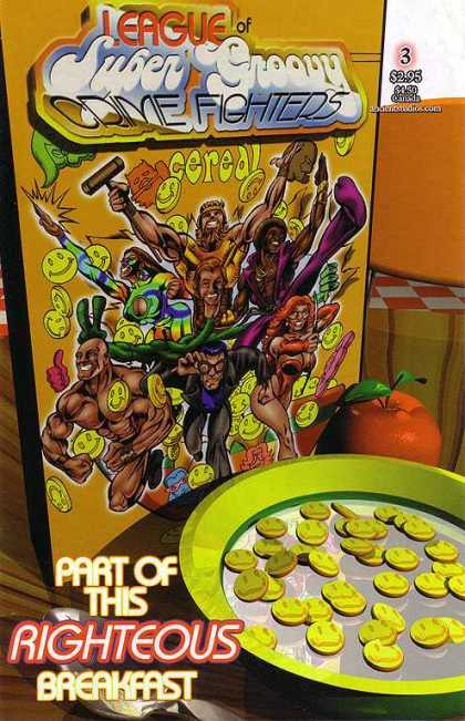 League of Super Groovy Crimefighters 3 - Ceral Box - Vol 3 - Apple - Super Heros - Part Of This Righteous Breakfast