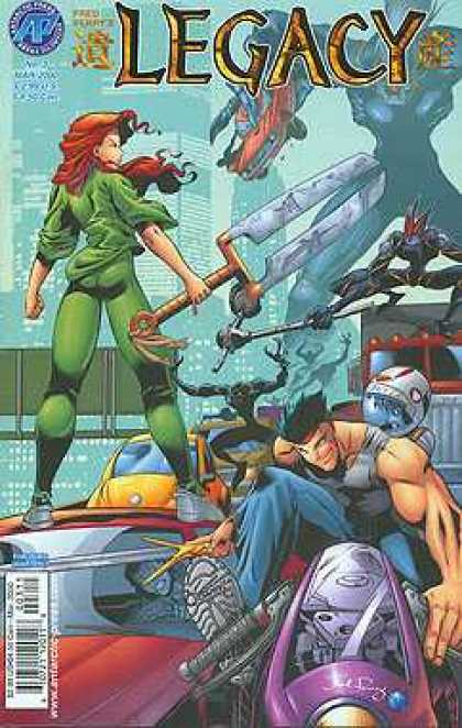 Legacy 3 - Blades - Green - Red Haired Women - Action - Destruction