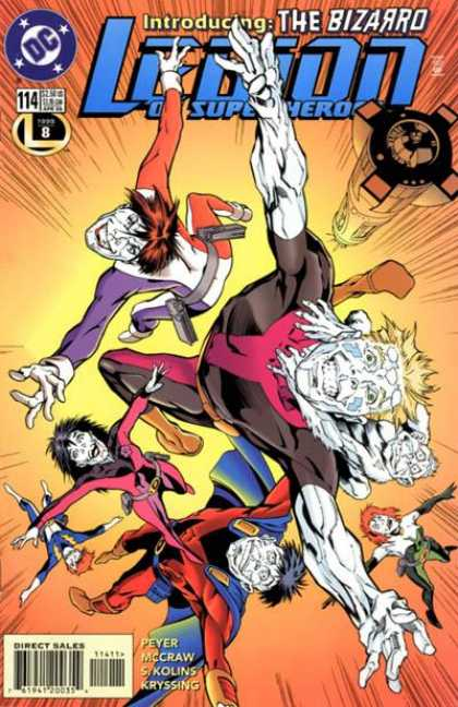 Legion of Super-Heroes (1989) 114 - The Bizarro - Peyer - Flying - Circus - White Faces - Alan Davis