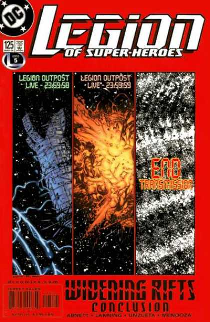 Legion of Super-Heroes (1989) 125 - Space - Emo - Transmission - Legion - Explosion - Olivier Coipel