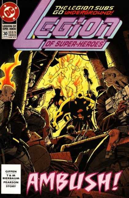 Legion of Super-Heroes (1989) 30 - Legion Subs - Underground - Dc - Fire - Ambush - Jason Pearson