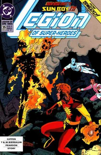 Legion of Super-Heroes (1989) 35 - Dc - Dc Comics - Sun Boy - Super Heroes - Burning Body - Jason Pearson