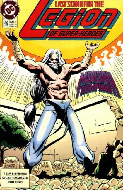 Legion of Super-Heroes (1989) 48 - Man - Muscles - Rock - Fire - Smoke - Stuart Immonen
