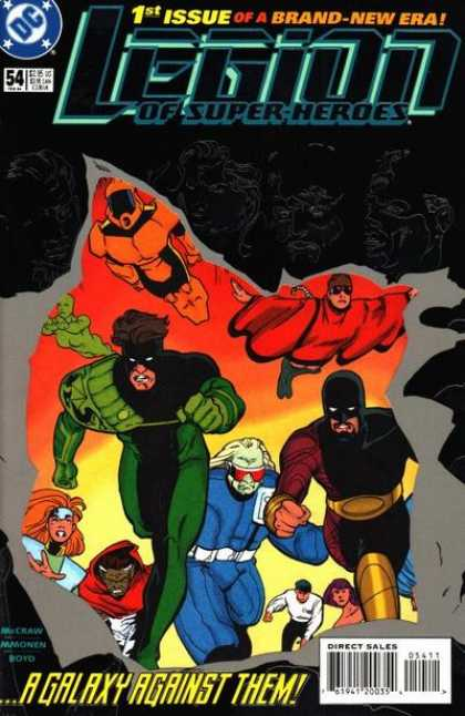 Legion of Super-Heroes (1989) 54 - 1st Issue Legion - Dc Comics - A Galaxy Against Them - Issue 54 - Flying Superheroes - Stuart Immonen
