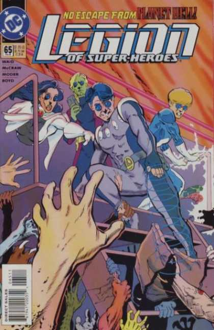 Legion of Super-Heroes (1989) 65 - No Escape - Planet Hell - No 65 - Mark Waid - Hands