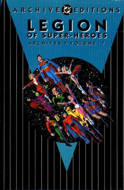 Legion of Super-Heroes Archives 7 - Superman - Volume 7 - Space - Eleven Heroes - Black And White Stripes
