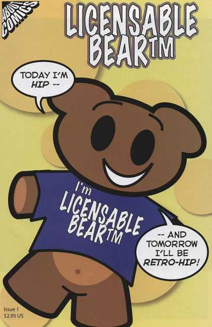 Licensable Bear 1 - Bear - Licensable - Retro - Smile - Comics