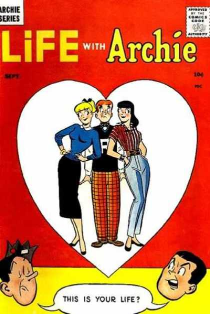 Life With Archie 1 - Comics Code - Betty - Veronica - Heart Shape - This Is Your Life