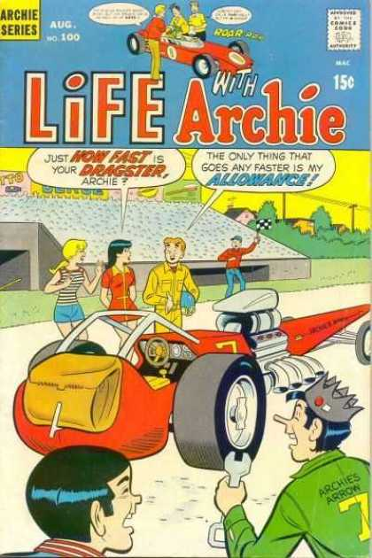 Life With Archie 100 - Archie Series - Life With Archie - Dragster - Spanor - Flag