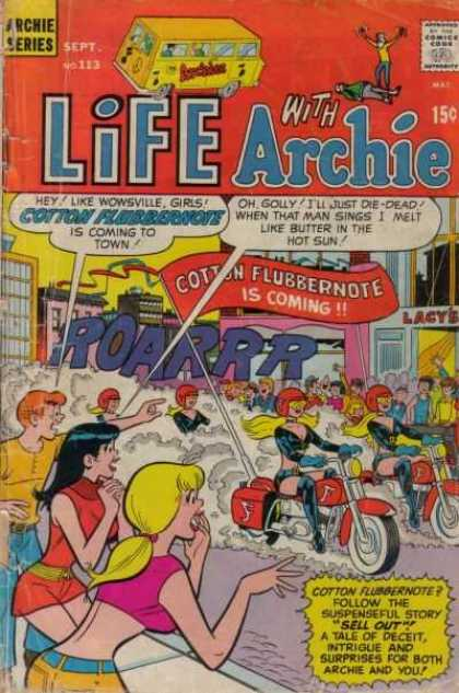 Life With Archie 113 - Cotton Flubbernote - Motorcycles - Women In Motorcycle Outfits - Sings - City Street