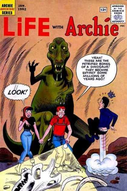 Life With Archie 12 - Dinosaur - Veronica - Jughead - Bones - Flashlight