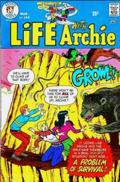 Life With Archie 143 - Jughead - Climb - Rope - Bear - Hairy Situation