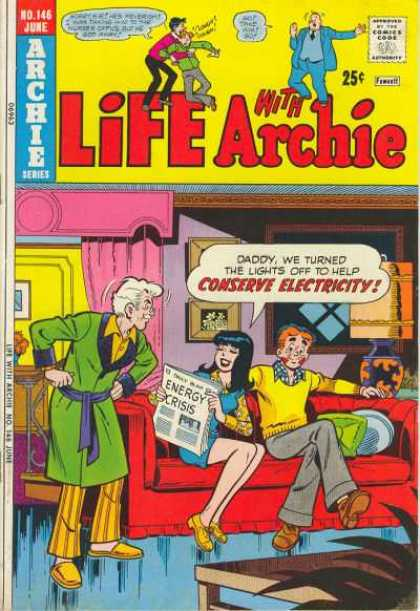 Life With Archie 146 - Daddy - Veronica - Newspaper - Electricity - Crisis