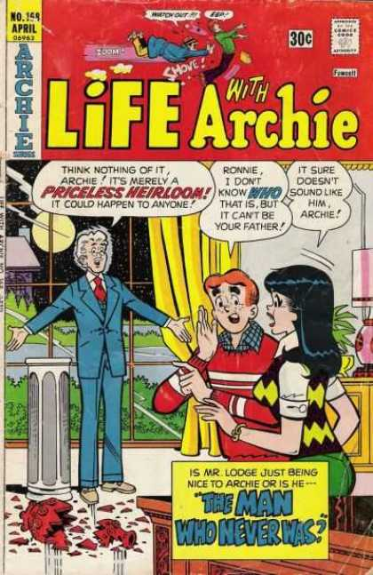 Life With Archie 168 - April Issue - Broken Vase - Archie - Veronica - Mr Lodge
