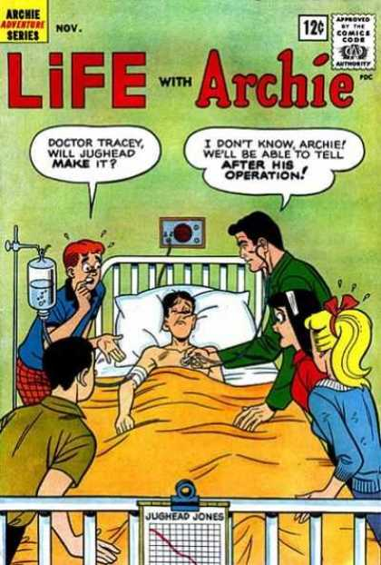 Life With Archie 17 - Archie - Jughead - Hospital Bed - Iv - Doctor