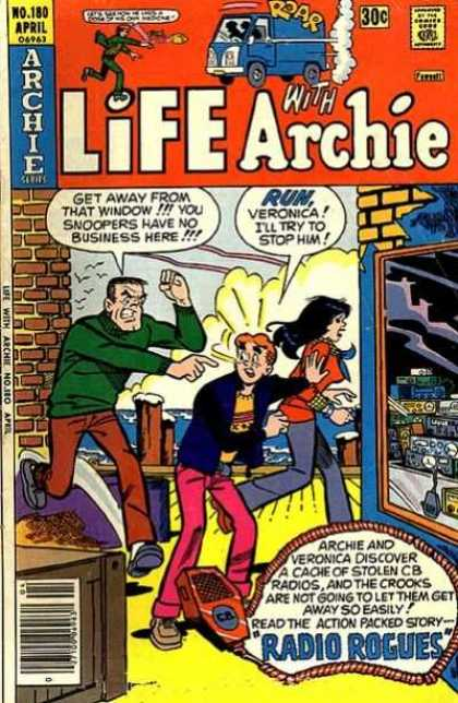 Life With Archie 180 - Archie - No 180 - Man Chasing Archie And Veronica - Vintage - Classic
