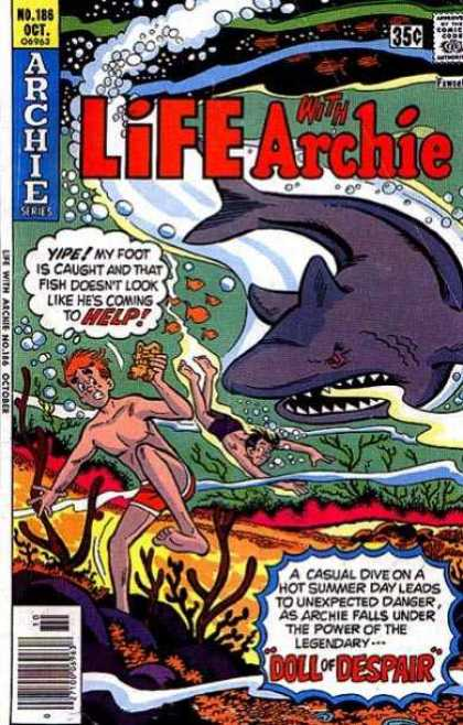 Life With Archie 186 - Archie - No 186 - October - Shark - Swimming