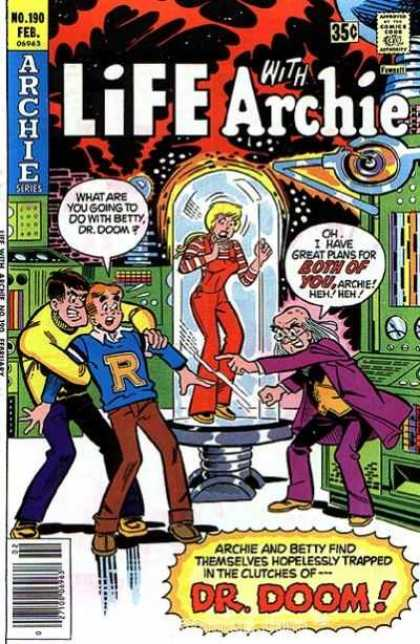 Life With Archie 190 - Dr Doom - Betty - Man - Professor - Woman