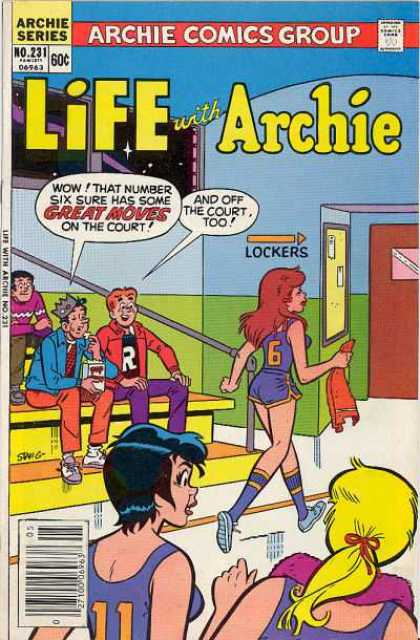 Life With Archie 231 - Archie Andrews - Bleachers - Jughead Jones - Reggie Mantle - Basketball Team