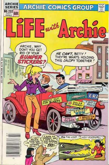 Life With Archie 232 - Bumper Stickers - Jalopy - Automobile - Solar Energy - Buildings