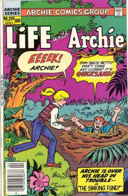 Life With Archie 236 - Quicksand - The Sinking Fund - Swamp - White Shirt - Blond Ponytail