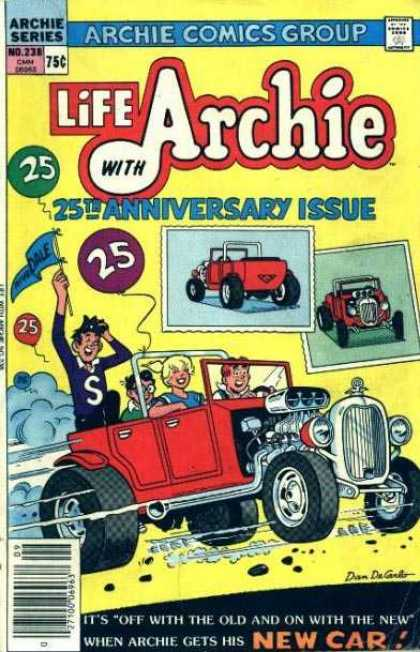 Life With Archie 238 - Archie - Archie Comics - Anniversary - Cars - Race