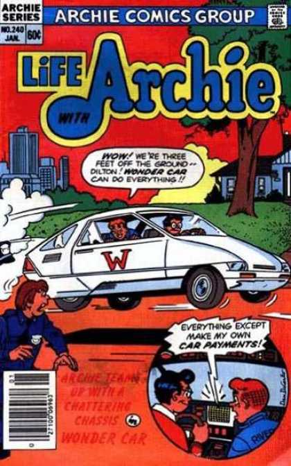 Life With Archie 240 - Archie Comics Group - No 240 Jan - 60 Cents - White Car