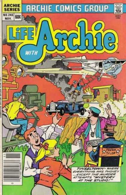 Life With Archie 245 - Approved By The Comics Code - Plane - Car - Fenton Tyler - Woman