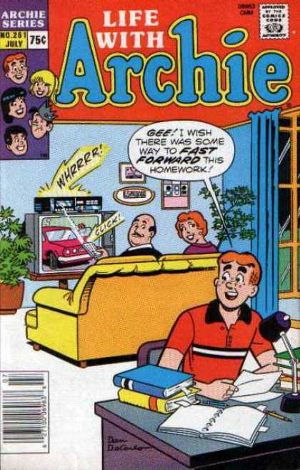 Life With Archie 261 - Television - Vidieo Tape - Fast Forward - Homework - Living Room
