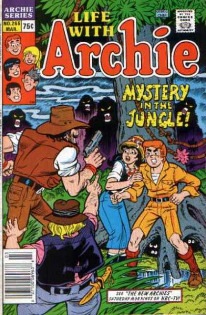 Life With Archie 265 - Archie Series - Approved By The Comics Code - Water - Mystery In The Jungle - Gun