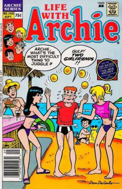 Life With Archie 268 - Jughead - Beach - Juggling - Betty U0026 Veronica - Sandwich