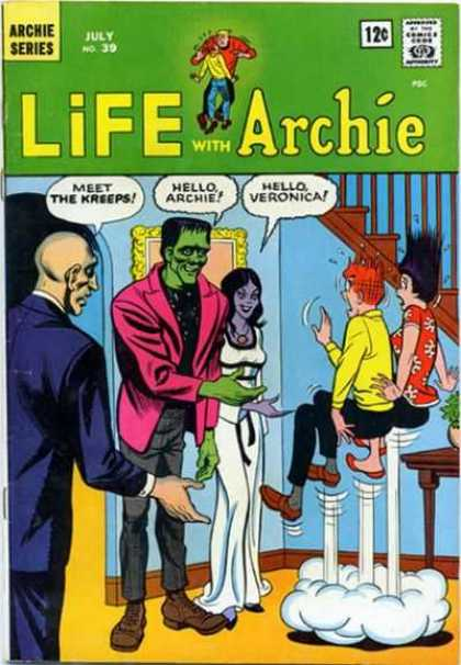 Life With Archie 39 - July No 39 - Veronica - The Kreeps - Frankinstien - Stairs