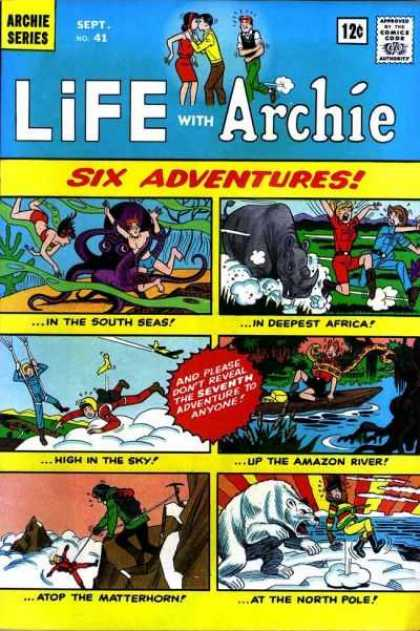 Life With Archie 41 - Adventures - South Seas - Africa - Amazon River - North Pole