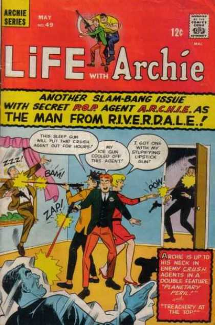Life With Archie 49 - Archie - Riverdale - Betty And Jughead - Robbers - Secret Agent