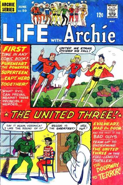 Life With Archie 50 - United We Standdivided We Fall - Purpleheart - The Powerful - The Doorway To Terror - Veronica