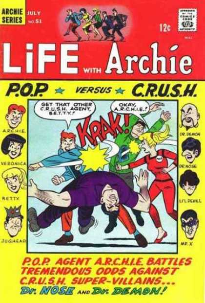 Life With Archie 51 - Archie Series - Approved By The Comics Code Authority - Pop - Crush - Drdemon