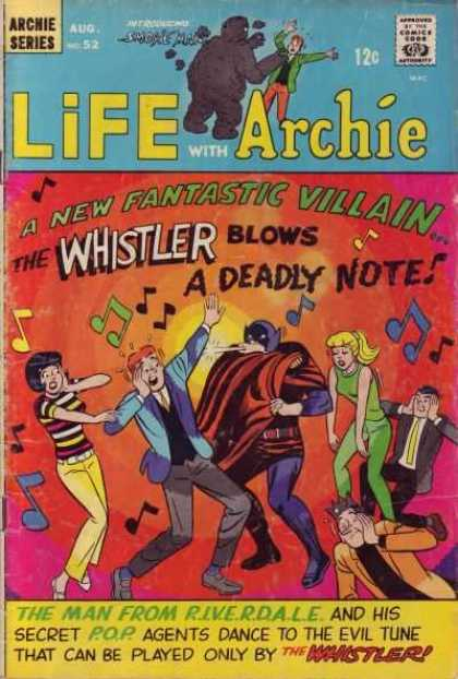 Life With Archie 52 - New Fantastic Villain - Whistler Blows A Deadly Note - Evil Tunes - Music Notes - Betty