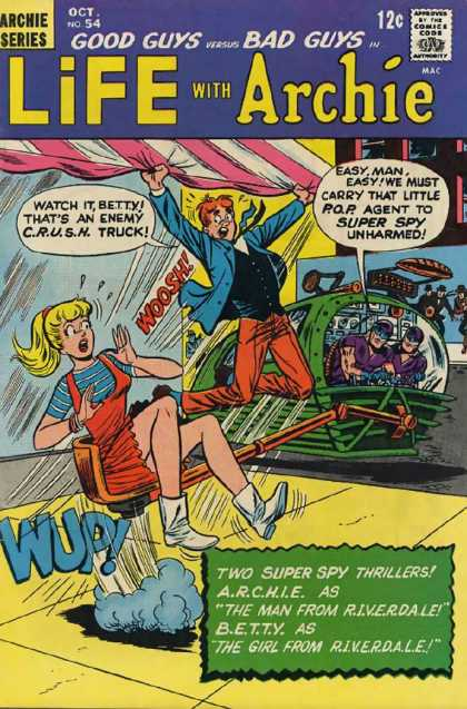 Life With Archie 54 - Archie - Betty - Riverdale - Spies - Crush