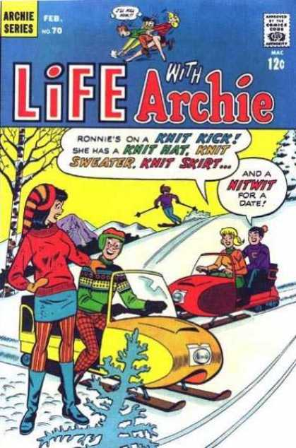 Life With Archie 70 - Comics Code Authority - Speech Bubble - Sweater - Snow - Jet Ski