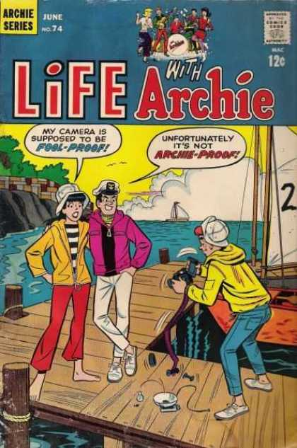 Life With Archie 74 - Camera - Veronica - Dock - Sailboat - Clouds