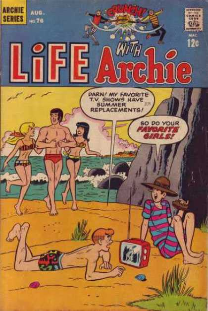 Life With Archie 76 - Archie - August - No 76 - Favorite Girls - Beach