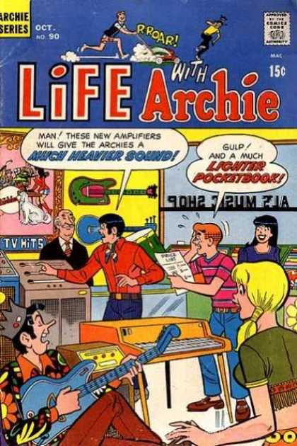 Life With Archie 90 - Much Heavier Sound - Lighter Pocket Book - Music Intrument - Compose Here - Thinking People