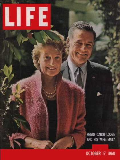 Life - Henry Cabot Lodge and wife Emily