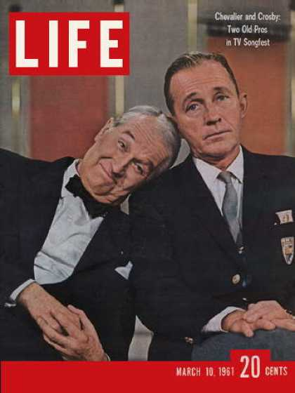 Life - Maurice Chevalier and Bing Crosby