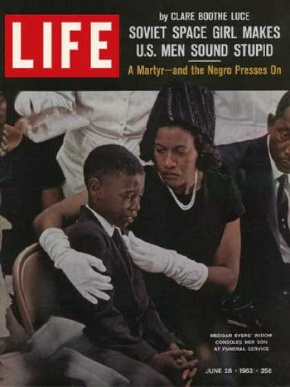 Life - Medgar Evers's widow and son